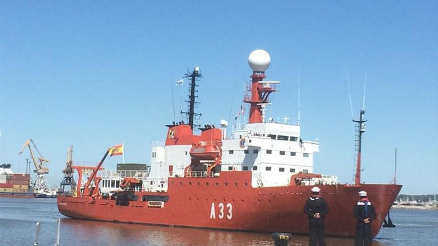 """El """"Hespérides"""" parte el lunes de Cartagena a una nueva campaña antártica"""