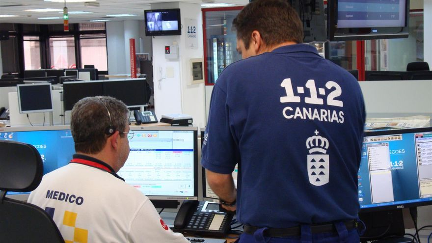 Sala de operaciones del 112 Canarias, en una imagen de archivo
