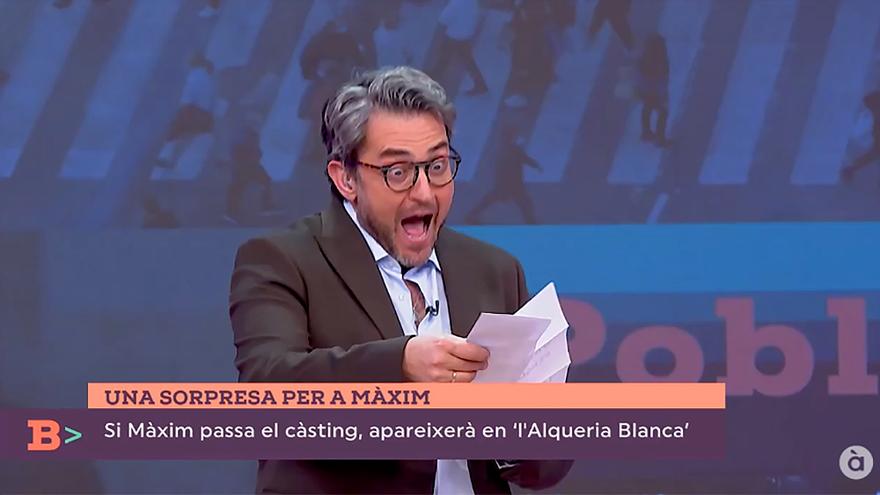 Sorprenden en directo a Máximo Huerta con un papel en la vuelta de 'L'alqueria blanca' a À punt