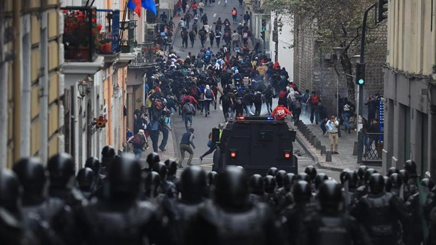 El casco histórico de Quito escenario de una batalla contra el Gobierno de Lenín Moreno