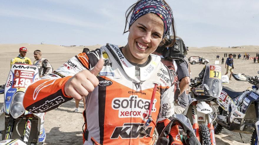 Laia Sanz durante el Dakar 2019