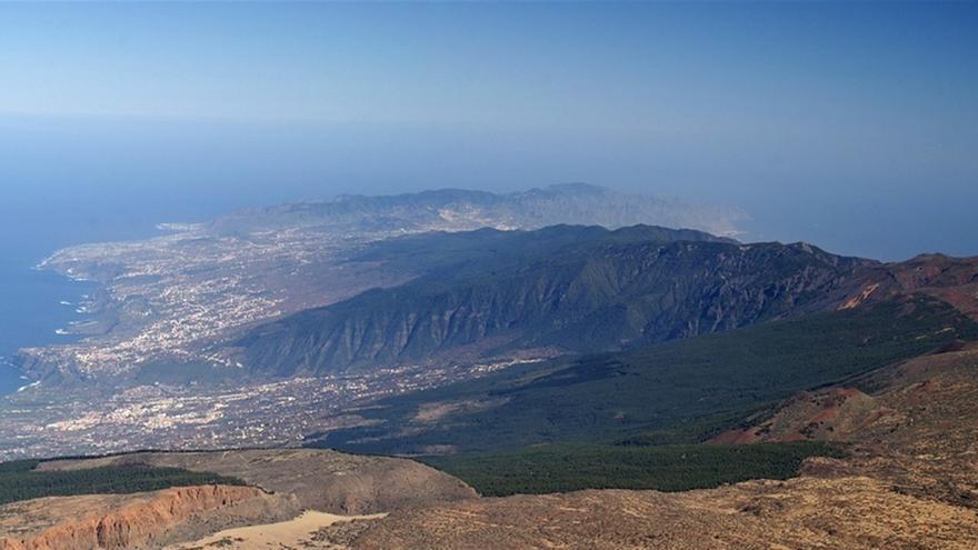 El volcán Dorsal Noreste de Tenerife emite 1.300 toneladas de CO2 al día.