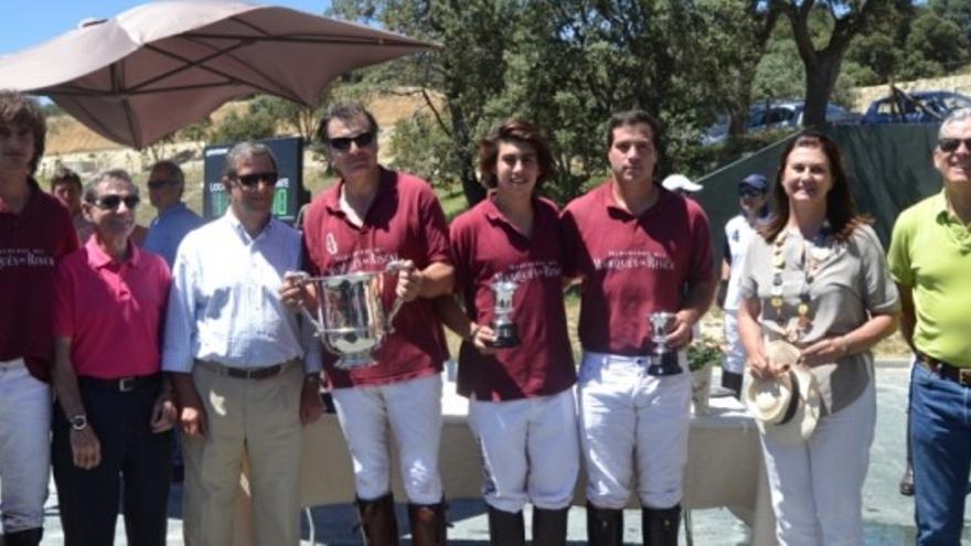El equipo de polo Marques de Riscal.