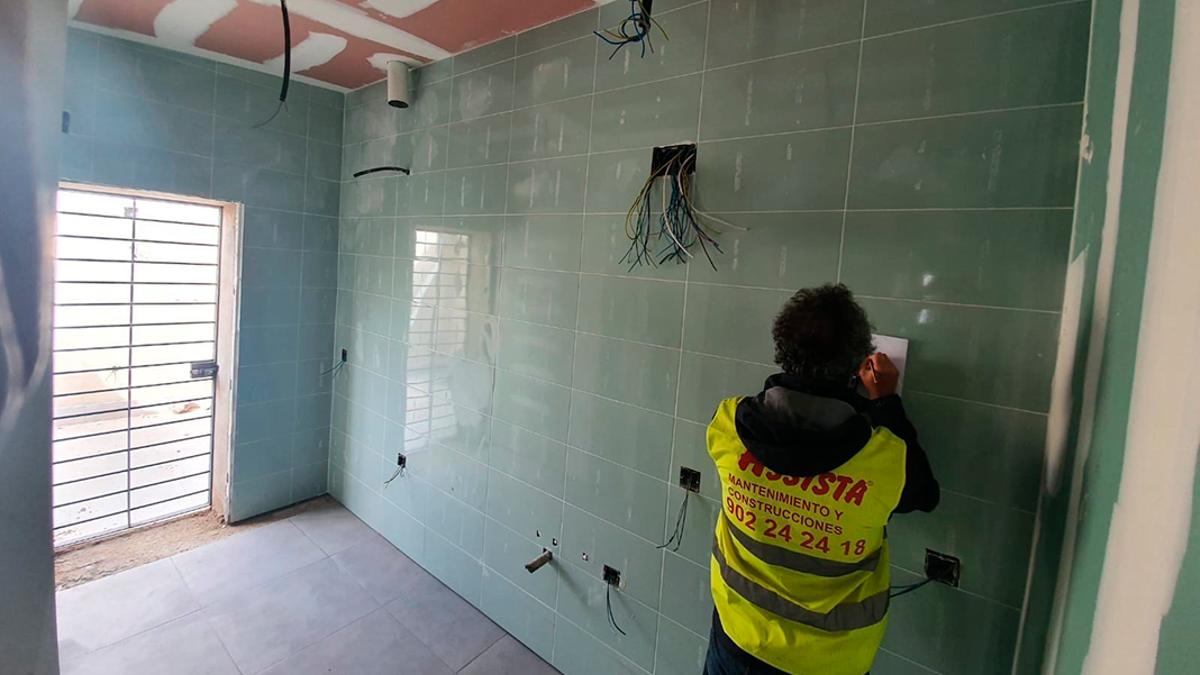 Obras de reforma en una vivienda.