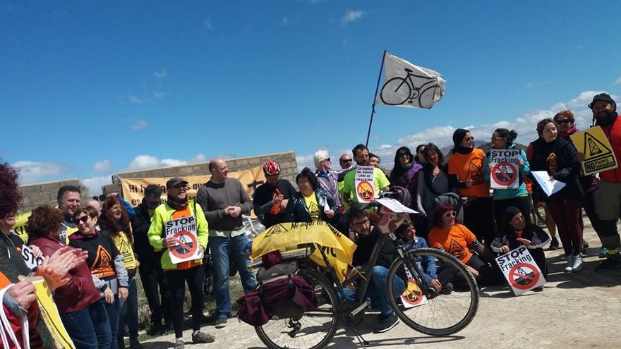 """Finaliza la marcha cicloturista contra el """"fracking"""" por la cuenca del Segura"""