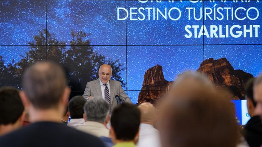 Antonio Morales en la inauguración de la jornada profesional 'Gran Canaria Destino Turístico Starlight'