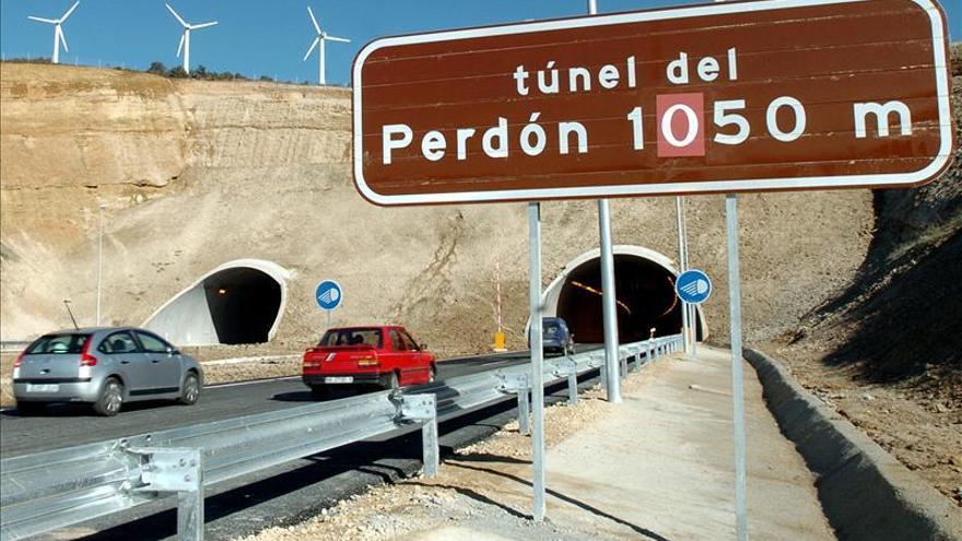 Una persona herida en el accidente de los túneles de El Perdón (Navarra)