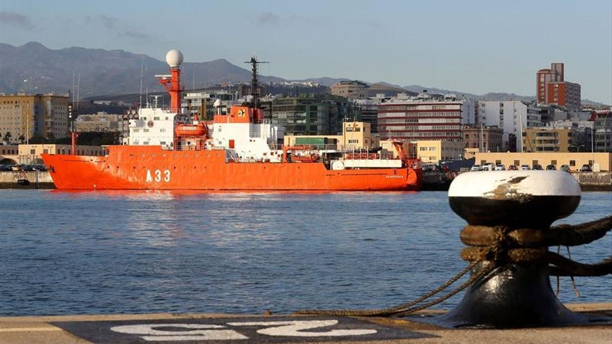 El buque Hespérides abandona Gran Canaria tras quedar libre de COVID