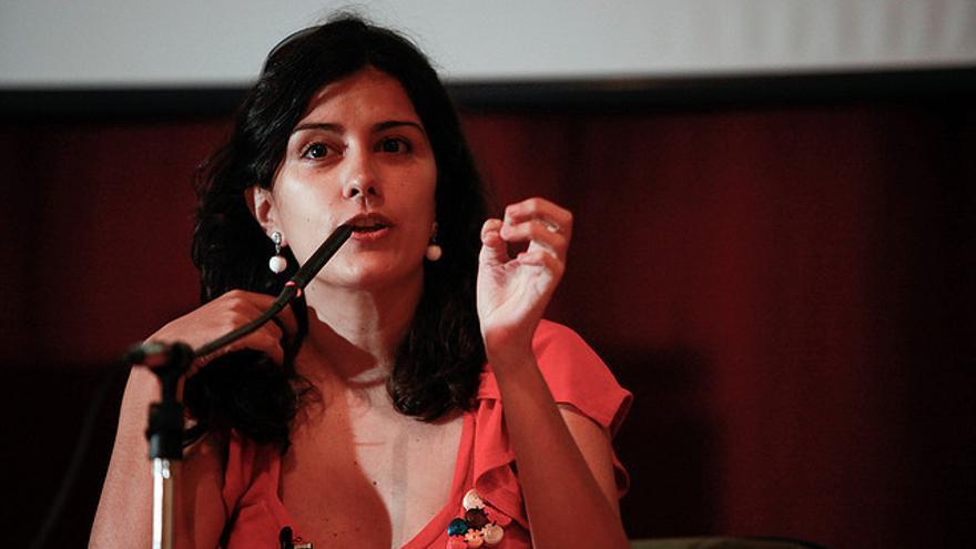 Olga Rodríguez, periodista y escritora, es una de las fundadoras de eldiario.es (Foto: Antonio Rull)