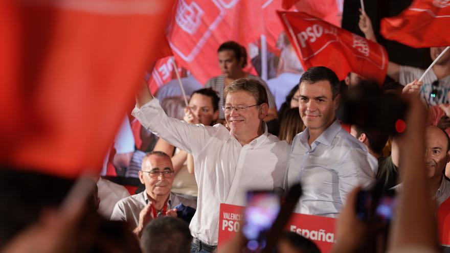 Ximo Puig y Pedro Sánchez, el miércoles en València.