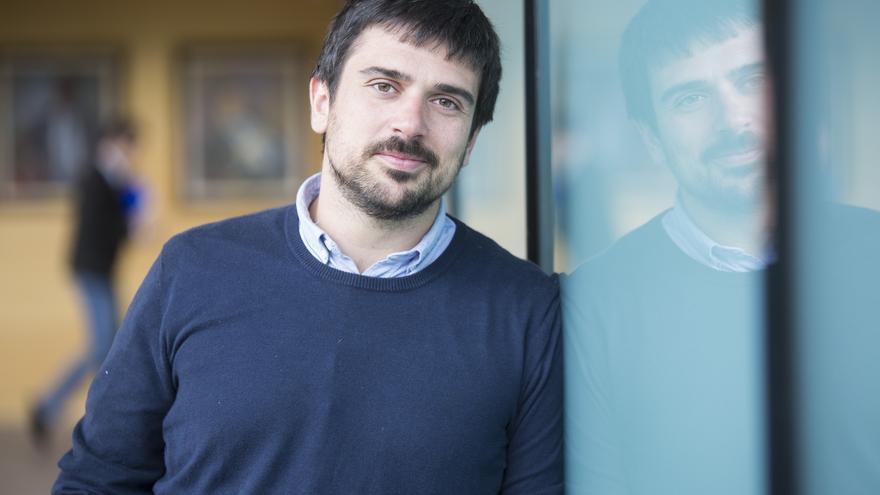 Ramón Espinar, durante una entrevista con eldiario.es en la Asamblea de Madrid.