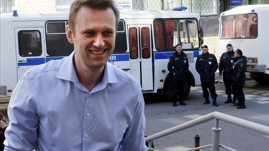 El líder opositor ruso Navalni, detenido tras violar el arresto domiciliario