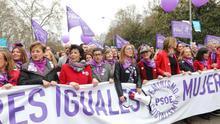 Imagen de la manifestación del 8M.