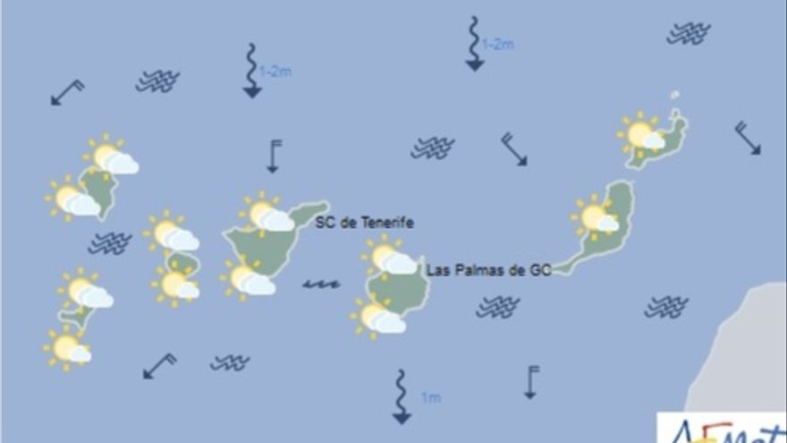 Mapa tiempo Canarias 17M