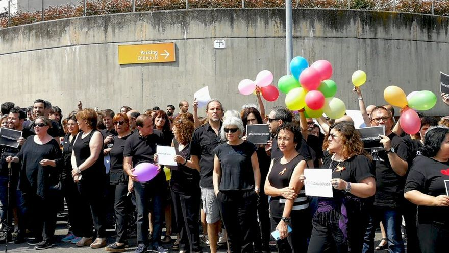 Protestas durante el décimo viernes negro de RTVE