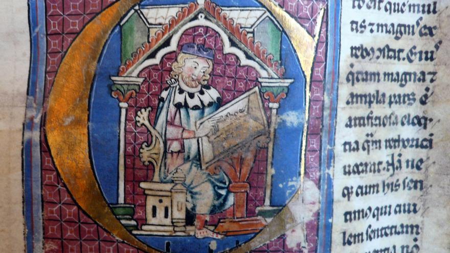 Ars Rhetorica de Aristóteles (traducción de Hermán el Alemán). Archivo de la Catedral Primada de Toledo.