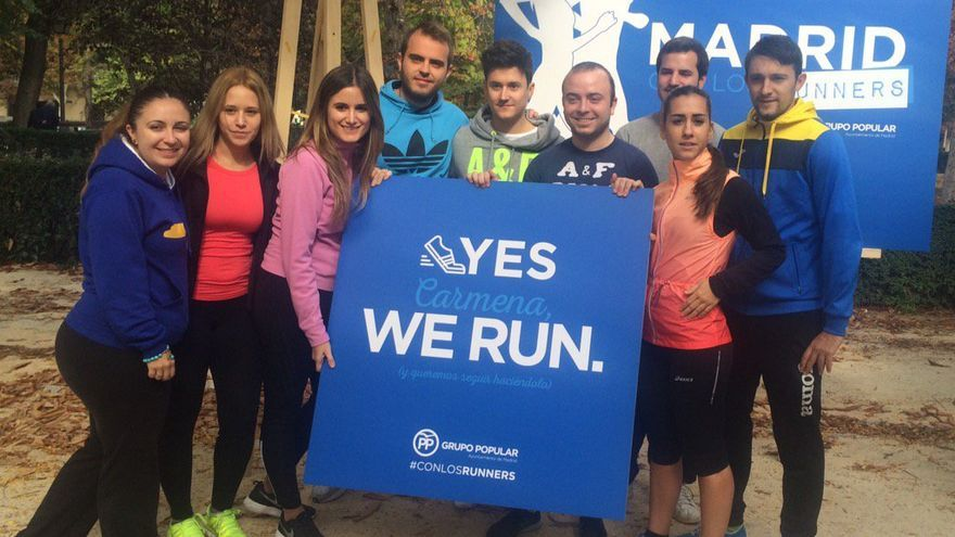 Campaña del PP de Madrid a favor de los runners