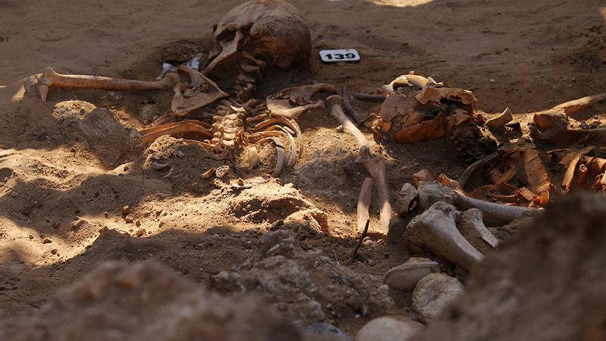 Las víctimas del franquismo presentan evidencias de muerte violenta. / JUAN MIGUEL BAQUERO