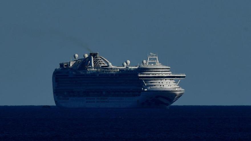 En la imagen, el crucero de nombre Ruby Princess en las costas de Sídney (Australia).