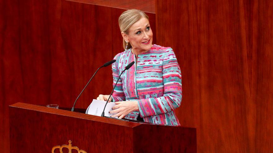 Cristina Cifuentes, en su comparecencia en la Asamblea