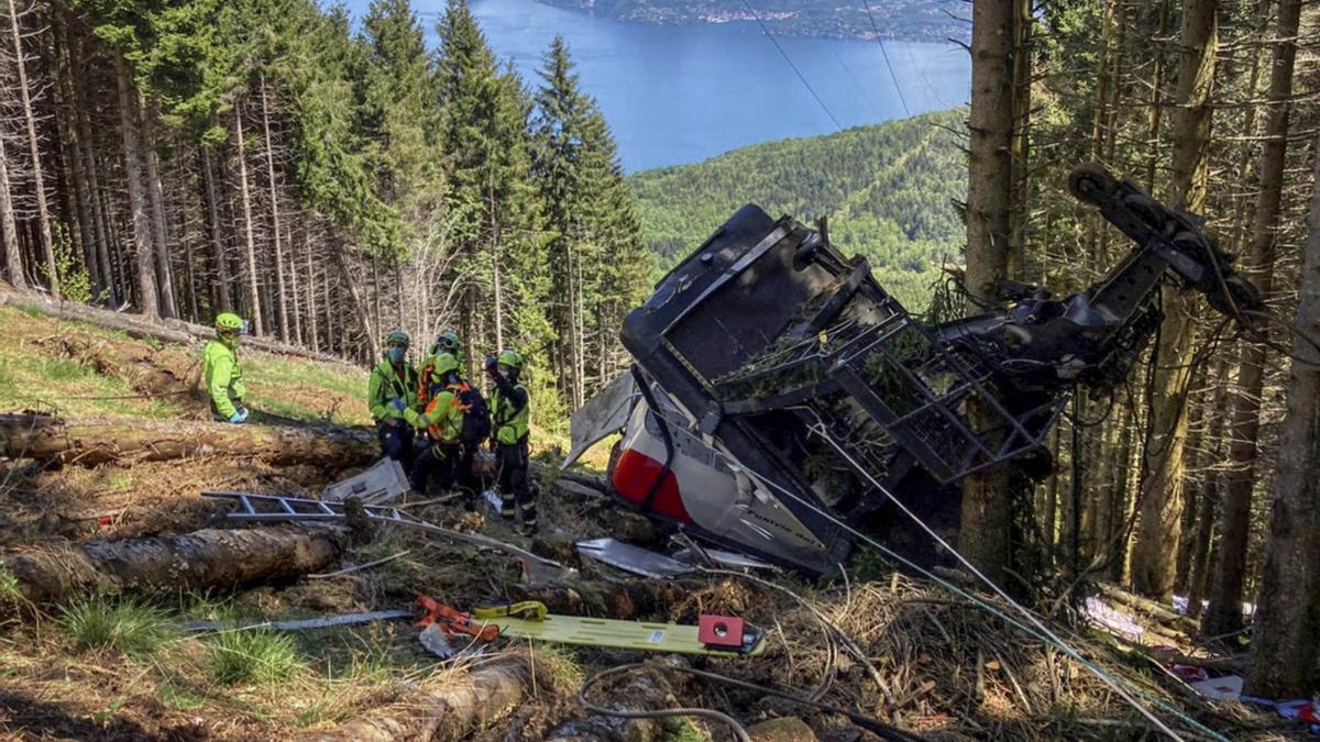El teleférico que sufrió un accidente se encuentra en Stresa, en el norte de Italia