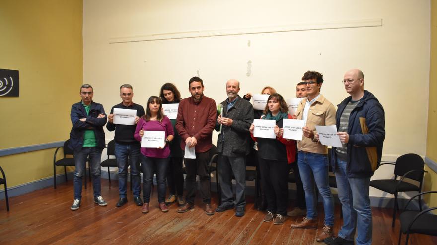 Protesta de los asistentes a la junta general de Muvisa, tras la última estratagema del alcalde de CC en La Laguna