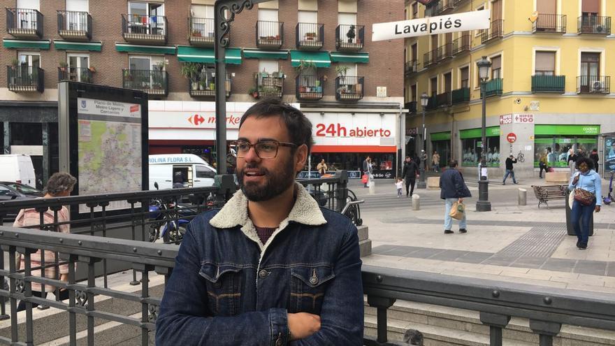 Sergio C. Fanjul en Lavapiés, uno de los barrios protagonistas de 'La ciudad infinita'