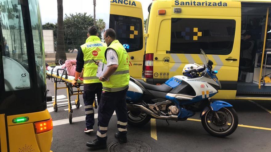 Accidente de una guagua en Las Palmas de Gran Canaria.