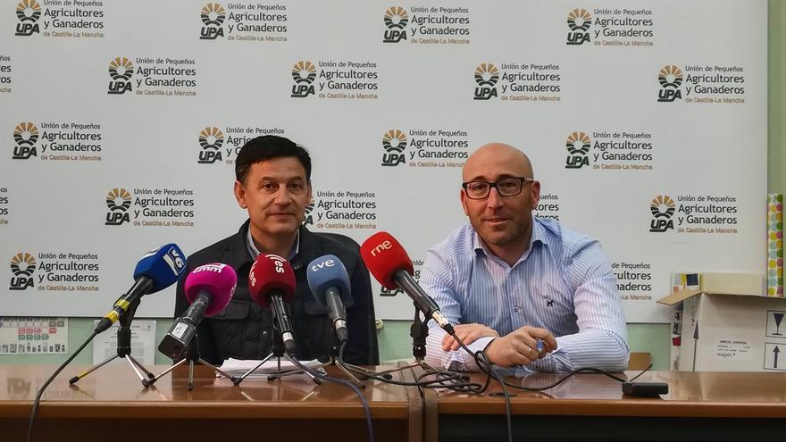 El secretario regional de UPA, Julián Morcillo, y el secretario de Albacete, Ramón Sáez