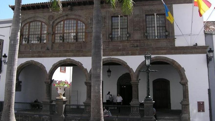 Fachada del Ayuntamiento de Santa Cruz de La Palma.