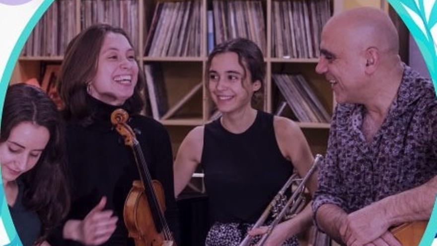 Concierto de 'Joan Chamorro New Quartet' con alumnas de la Sant Andreu Jazz Band