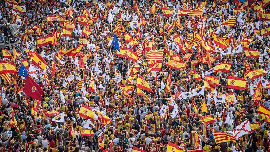 La marcha ha congregado a 65.000 personas, según la Guardia Urbana