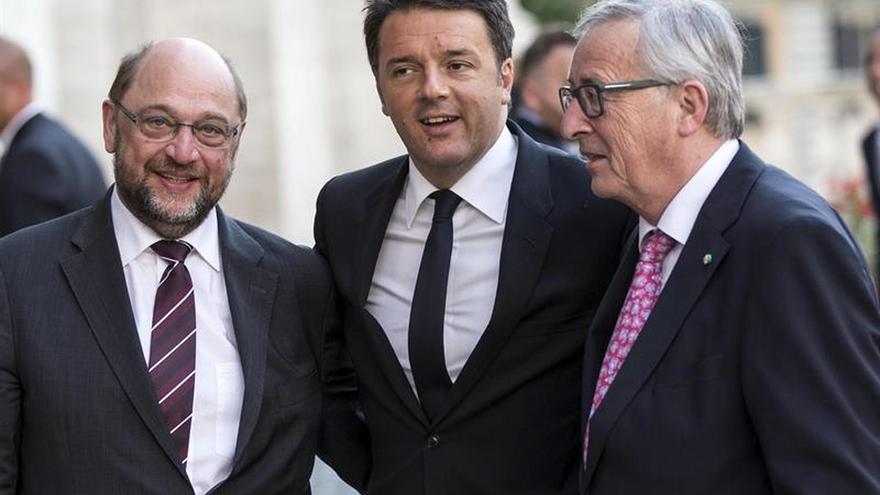 Juncker, Tusk y Schulz alertan en Roma del avance del populismo en la UE