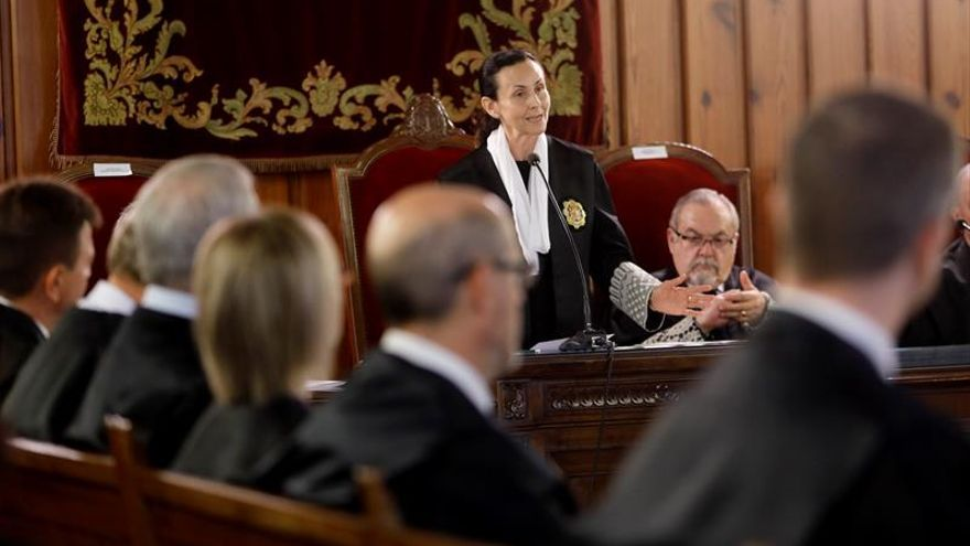 La presidenta del Tribunal Superior de Justicia de Valencia, Pilar de la Oliva, durante el acto de apertura del Año Judicial 2017-2018.