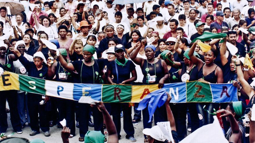 Manifestación de mujeres por la paz y la justicia en Colombia. Santiago Aguirre Sánchez / Ruta Pacífica de las Mujeres