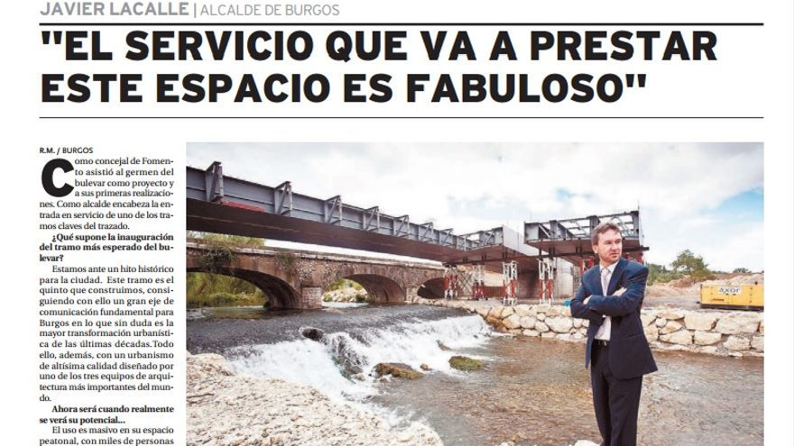 Entrevista al alcalde de Burgos en El Diario de Burgos el 12 de abril de 2o12.