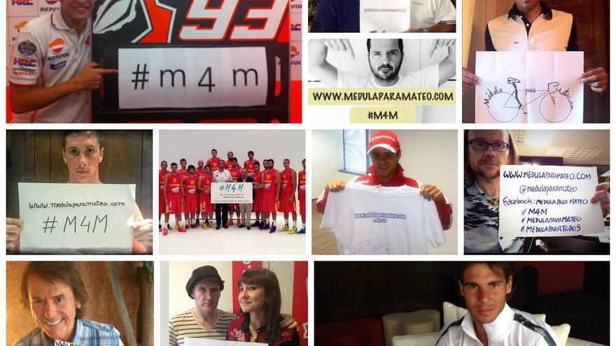 Multitud de famosos han apoyado la campaña #medulaparamateo