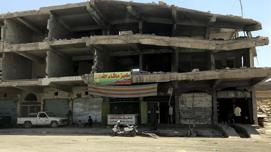 Yihadistas del EI resisten en un rectángulo cada vez menor en la iraquí Mosul
