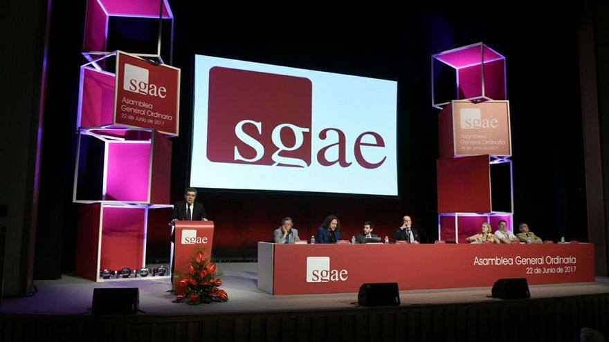 Fotografía tomada durante la celebración de la Asamblea de la SGAE. Luis Camacho / SGAE