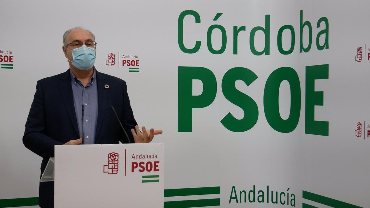 Juan Pablo Durán en la sede del PSOE.