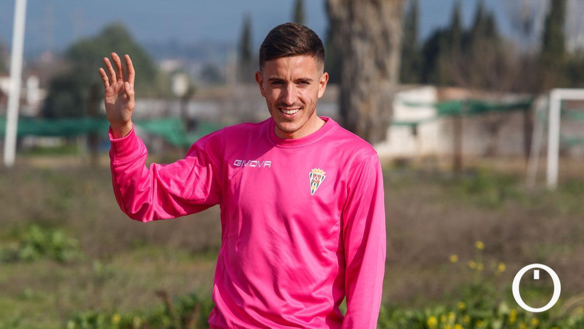 Alberto Ródenas, en su primer entrenamiento con el Córdoba