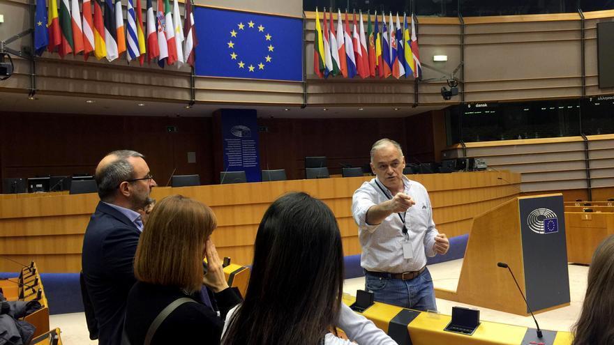 El eurodiputado valenciano del PP Esteban González Pons en el Parlamento Europeo