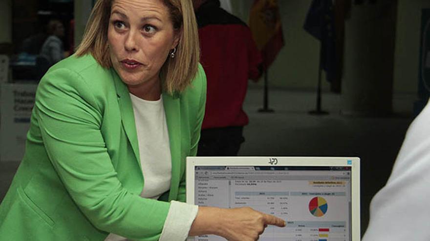 La presidenta del Partido Popular de Lanzarote, Astrid Pérez.