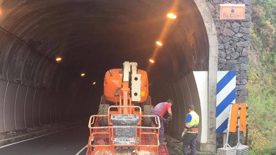 Los trabajos de reparación  se llevan a cabo en los túneles de El Cubo (en la imagen), La Galga, El Valle y Las Lomadas.