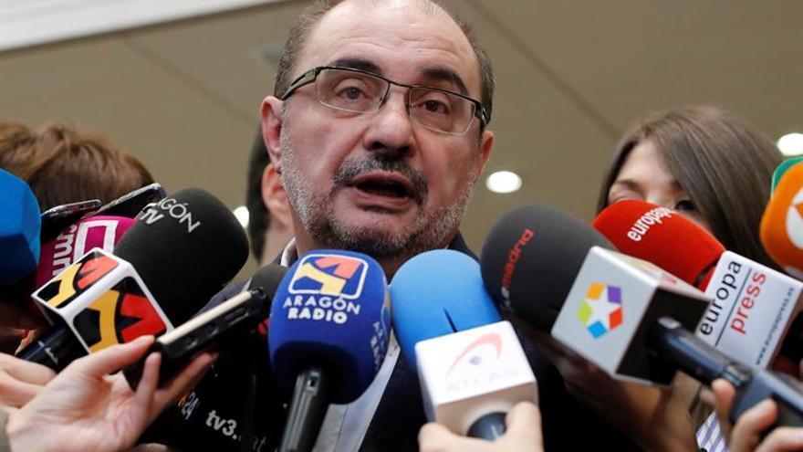 """Lambán tacha de """"decepcionantes"""" los presupuesto del Estado para Aragón"""