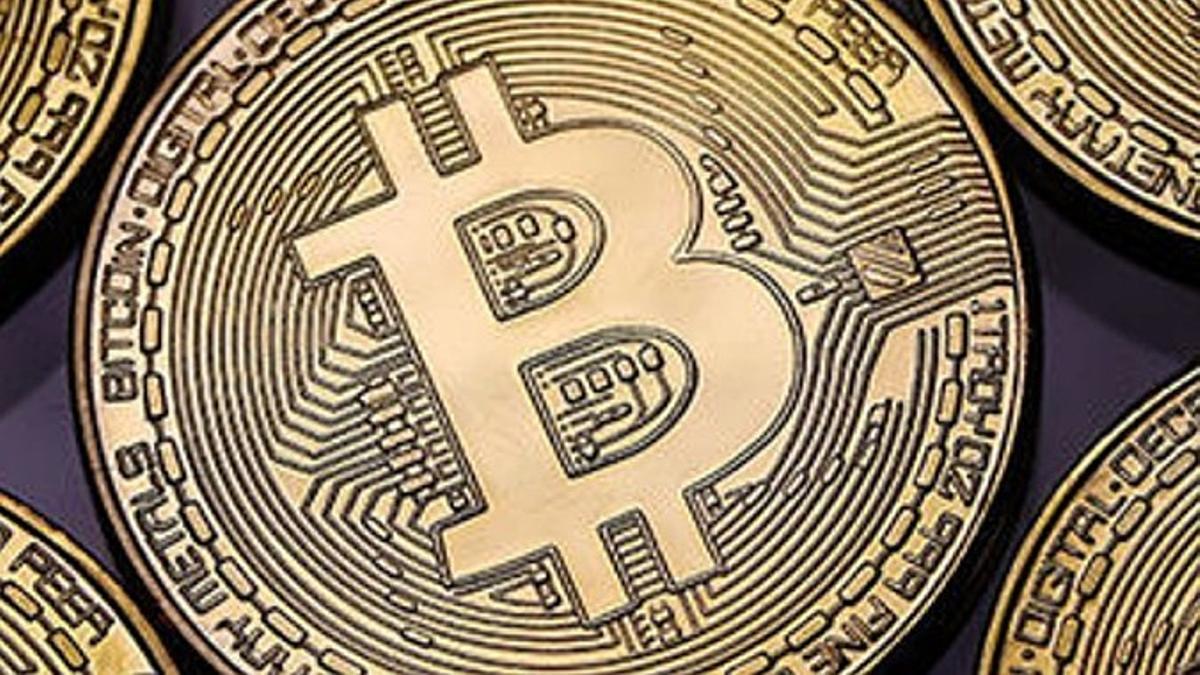 Recreación de una moneda bitcoin.