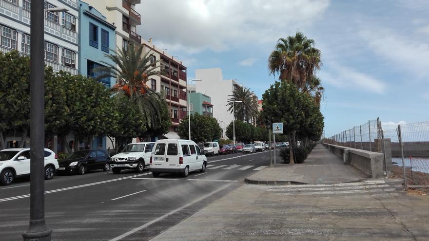 En la imagen, obras en la Avenida Marítima.