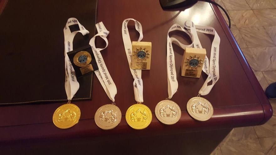 Medallas logradas por el joven breñusco Ángel Luis Cubas Cabrera en las Olimpiadas Mentales de Londres 2016.