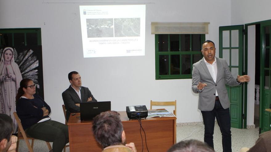 Alexis González explicó el estado de las obras de la vía.