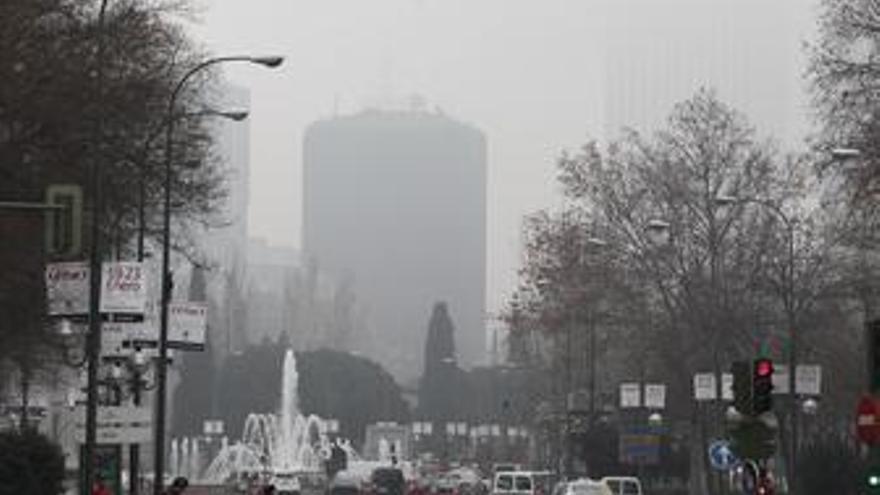 Niebla en Madrid
